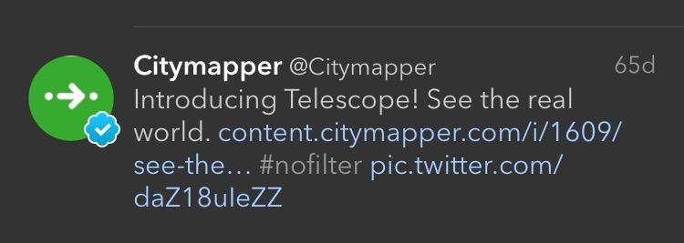 Ejemplo de Citymapper